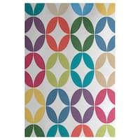 Eye Opener Geometric Print Indoor, Outdoor Rug (2' x 3')