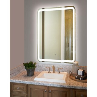 Innoci-USA Hermes Rounded Arc Corner LED Wall Mount Lighted Vanity Mirror Featuring IR Sensor and Durable Aluminum Frame (4 options available)