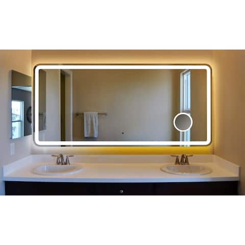 Innoci-USA Electra Rounded Arc Corner LED Lighted Vanity Mirror