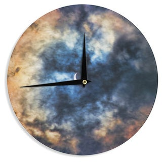 "Kess InHouse Bruce Stanfield ""Night Moves"" Blue Orange Wall Clock 12"""