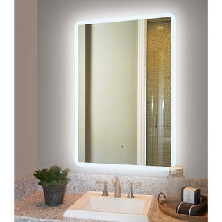 Innoci-USA Rounded-edge Back-lit Mirror with 50,000-hour LED Bulb Life