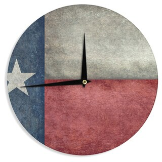 "Kess InHouse Bruce Stanfield ""Texas State Flag"" Vintage Digital Wall Clock 12"""