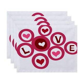 Love in the Round Holiday Geometric Print Place Mat (Set of 4)