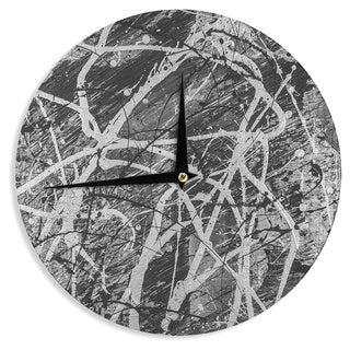 KESS InHouseBruce Stanfield 'Verness In Grayscale' White Black Wall Clock