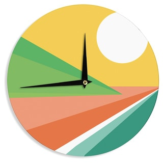 "Kess InHouse Budi Kwan ""Beach"" Wall Clock 12"""