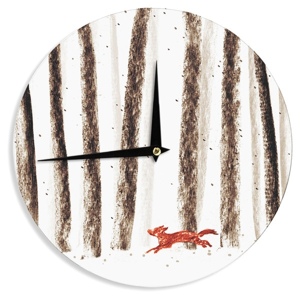 "Kess InHouse Budi Kwan ""Run and Roam"" Wall Clock 12"""