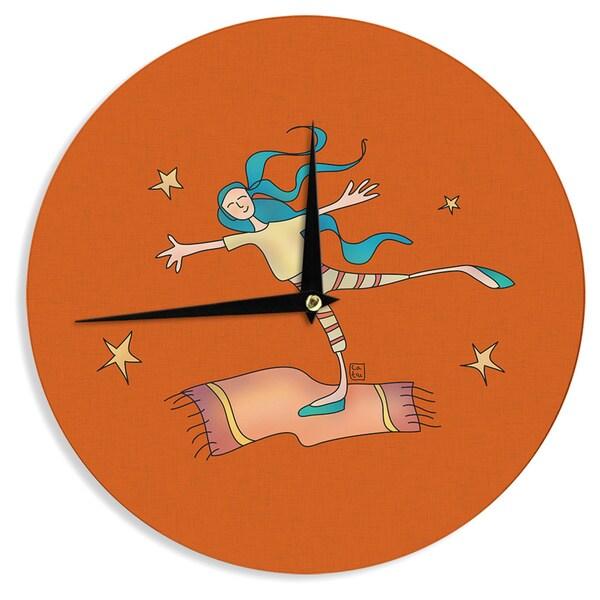 KESS InHouseCarina Povarchik 'Being Free' Red Wall Clock