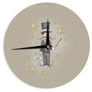 KESS InHouseCarina Povarchik 'Circus Magician' Wall Clock