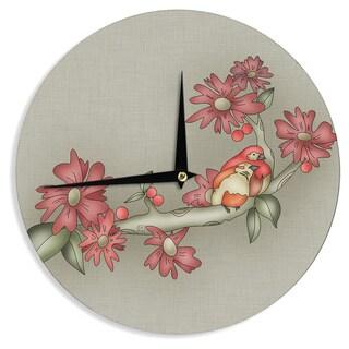 KESS InHouseCarina Povarchik 'Feng Shui' Red Brown Wall Clock