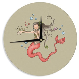 KESS InHouseCarina Povarchik 'Mermaids Lovely' Wall Clock