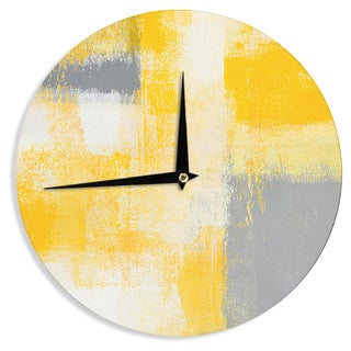 KESS InHouseCarolLynn Tice 'Breakfast' Grey Gold Wall Clock