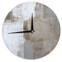 KESS InHouseCarolLynn Tice 'Calm and Neutral' Wall Clock