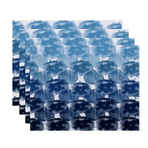 Beach Clouds Geometric Print Place Mat (Set of 4)