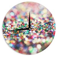 "Kess InHouse Beth Engel ""Celebrate"" Wall Clock 12"""