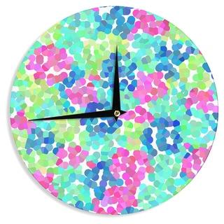 "Kess InHouse Beth Engel ""Flower Garden"" Wall Clock 12"""