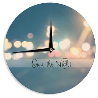"Kess InHouse Beth Engel ""Own The Night"" Wall Clock 12"""