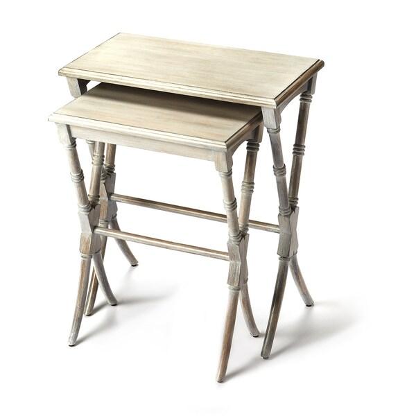 Handmade Butler Arabella Driftwood Nesting Tables (China)