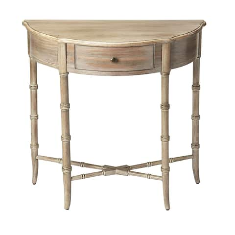 Handmade Butler Skilling Driftwood Demilune Console Table (China)