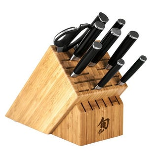 Shun DMS1020 Stainless Steel Classic 10-piece Chef's Block Knife Set