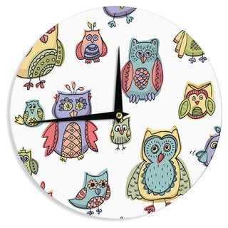 "Kess InHouse Brienne Jepkema ""Owls""  Wall Clock 12"""