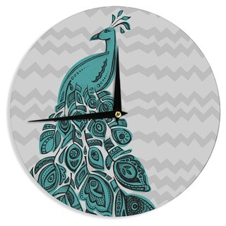 "Kess InHouse Brienne Jepkema ""Peacock Blue"" Wall Clock 12"""