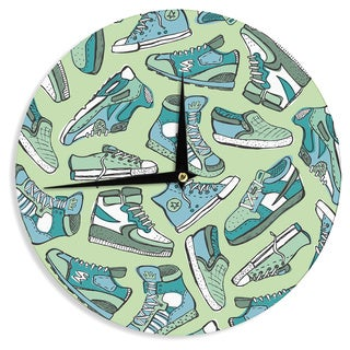 "Kess InHouse Brienne Jepkema ""Sneaker Lover I"" Wall Clock 12"""