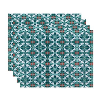 Beach Tile Geometric Print Place Mat (Set of 4)