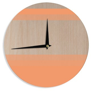 "Kess InHouse Brittany Guarino ""Art Orange""  Wall Clock 12"""