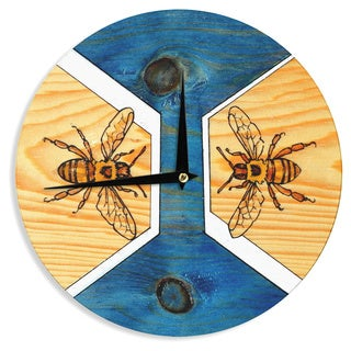 "Kess InHouse Brittany Guarino ""Bees"" Wall Clock 12"""