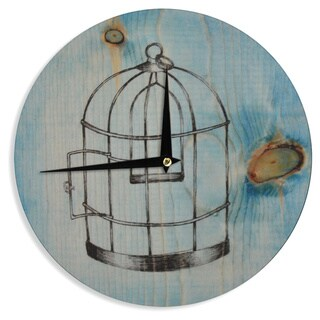 "Kess InHouse Brittany Guarino ""Bird Cage"" Wall Clock 12"""