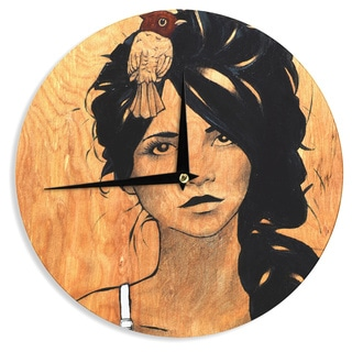"Kess InHouse Brittany Guarino ""Blue Bra"" Wall Clock 12"""