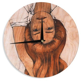 "Kess InHouse Brittany Guarino ""Girl"" Wall Clock 12"""