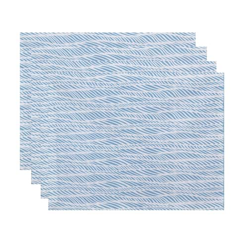 Rolling Waves Geometric Print Place Mat (Set of 4)