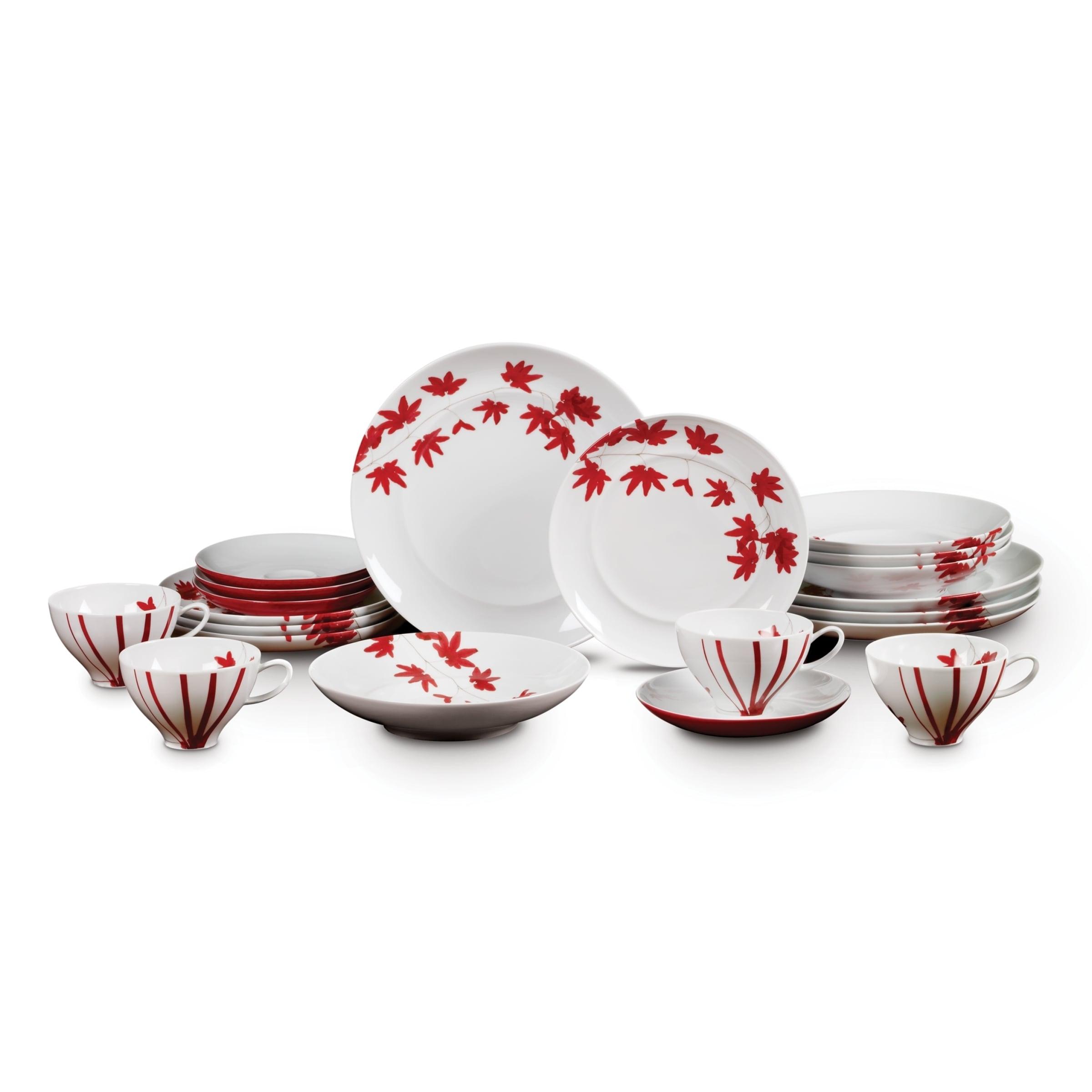 Mikasa Red Porcelain Dinnerware Set Overstock 12897871