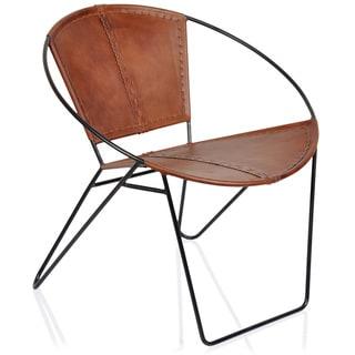Horizon Midcentury Tobacco Leather Chair