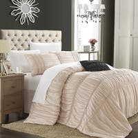 Chic Home Romano 8-Piece Taupe Duvet Cover Set