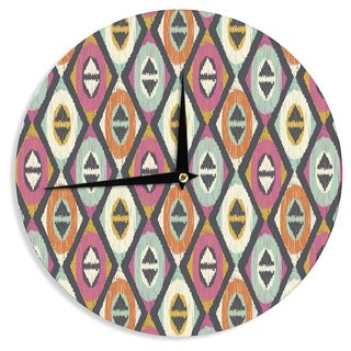 "Kess InHouse Amanda Lane ""Sequoyah Diamonds"" Wall Clock 12"""