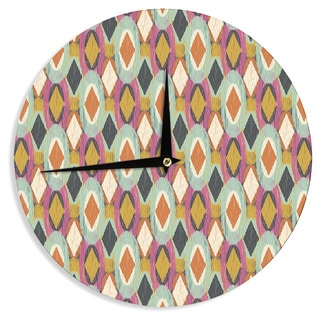 "Kess InHouse Amanda Lane ""Sequoyah Ovals"" Wall Clock 12"""