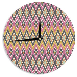 "Kess InHouse Amanda Lane ""Sequoyah Tribals"" Wall Clock 12"""