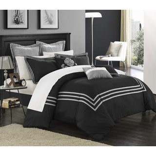 Chic Home Cornelius Black 12-Piece Bed in a Bag Comforter Set