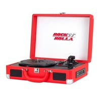Rock 'N' Rolla Jr. Portable Briefcase Red Vinyl Turntable Record Player