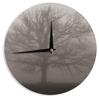KESS InHouseAngie Turner 'Lonely Tree' Dark Fog Wall Clock