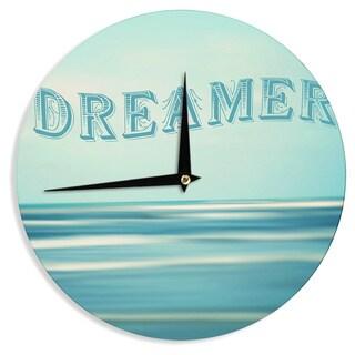 "Kess InHouse Ann Barnes ""Dreamer"" Blue Teal Wall Clock 12"""