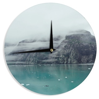 "Kess InHouse Ann Barnes ""Into the Mist"" Teal Wall Clock 12"""