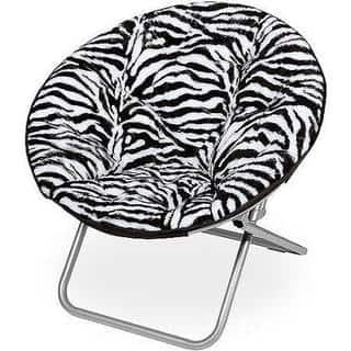 Zebra Faux Fur Saucer Chair|https://ak1.ostkcdn.com/images/products/12898104/P19655508.jpg?impolicy=medium