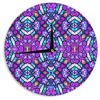 KESS InHouseArt Love Passion 'Kaleidoscope Dream Continued' Purple Pink Wall Clock