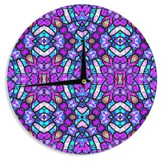 "Kess InHouse Art Love Passion ""Kaleidoscope Dream Continued"" Purple Pink Wall Clock 12"""
