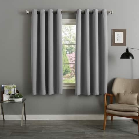 Aurora Home 54 Inch Thermal Insulated Blackout Curtain Panel Pair - 52 x 54