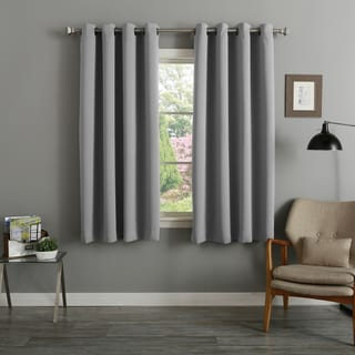 Link to Aurora Home 54 Inch Thermal Insulated Blackout Curtain Panel Pair - 52 x 54 - 52 x 54 Similar Items in Curtains & Drapes