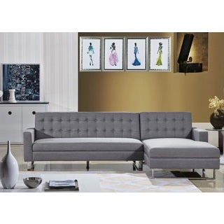 CLEMONTE SECTIONAL SOFA FABRIC GREY-RIGHT